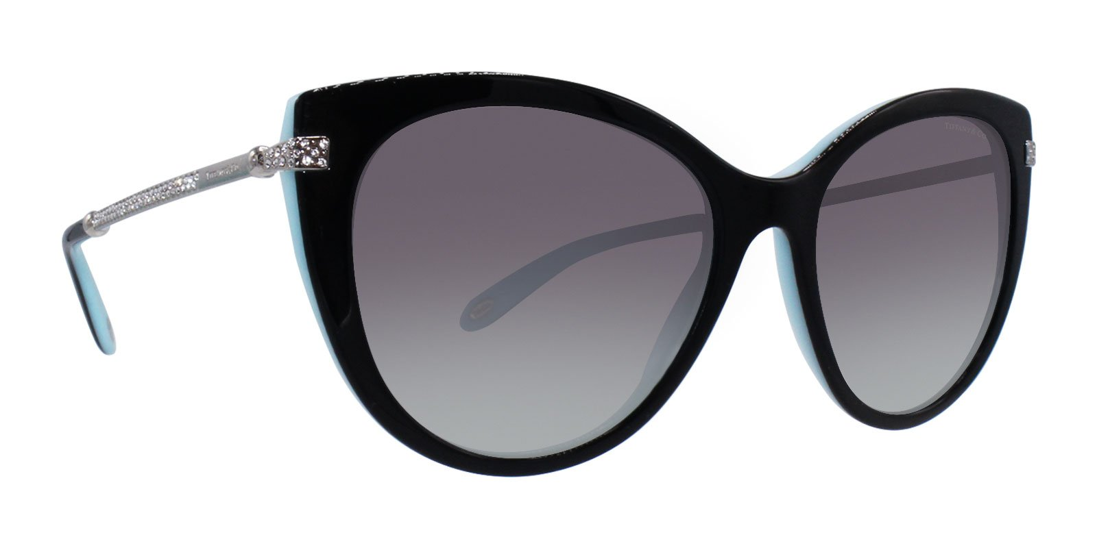 Tiffany - TF4143B Black Oval Women Sunglasses - 55mm-Sunglasses-Designer Eyes