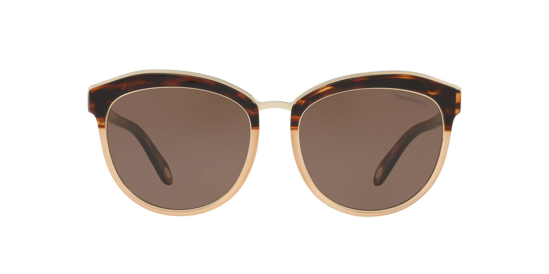 Tiffany - TF4146 Brown Oval Women Sunglasses - 56mm-Sunglasses-Designer Eyes