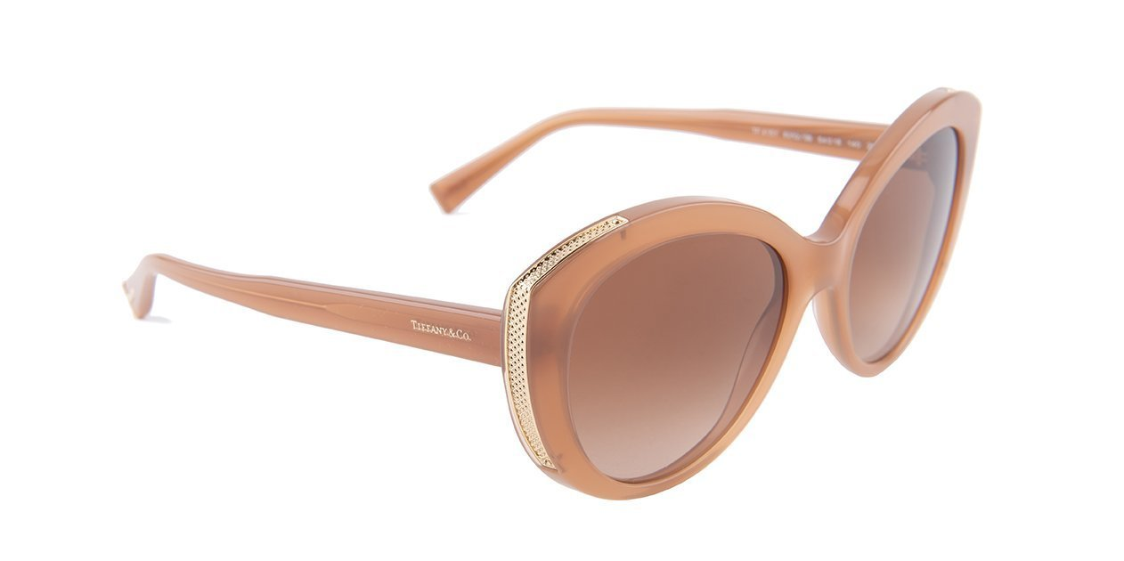Tiffany - TF4151 Brown Oval Women Sunglasses - 54mm-Sunglasses-Designer Eyes