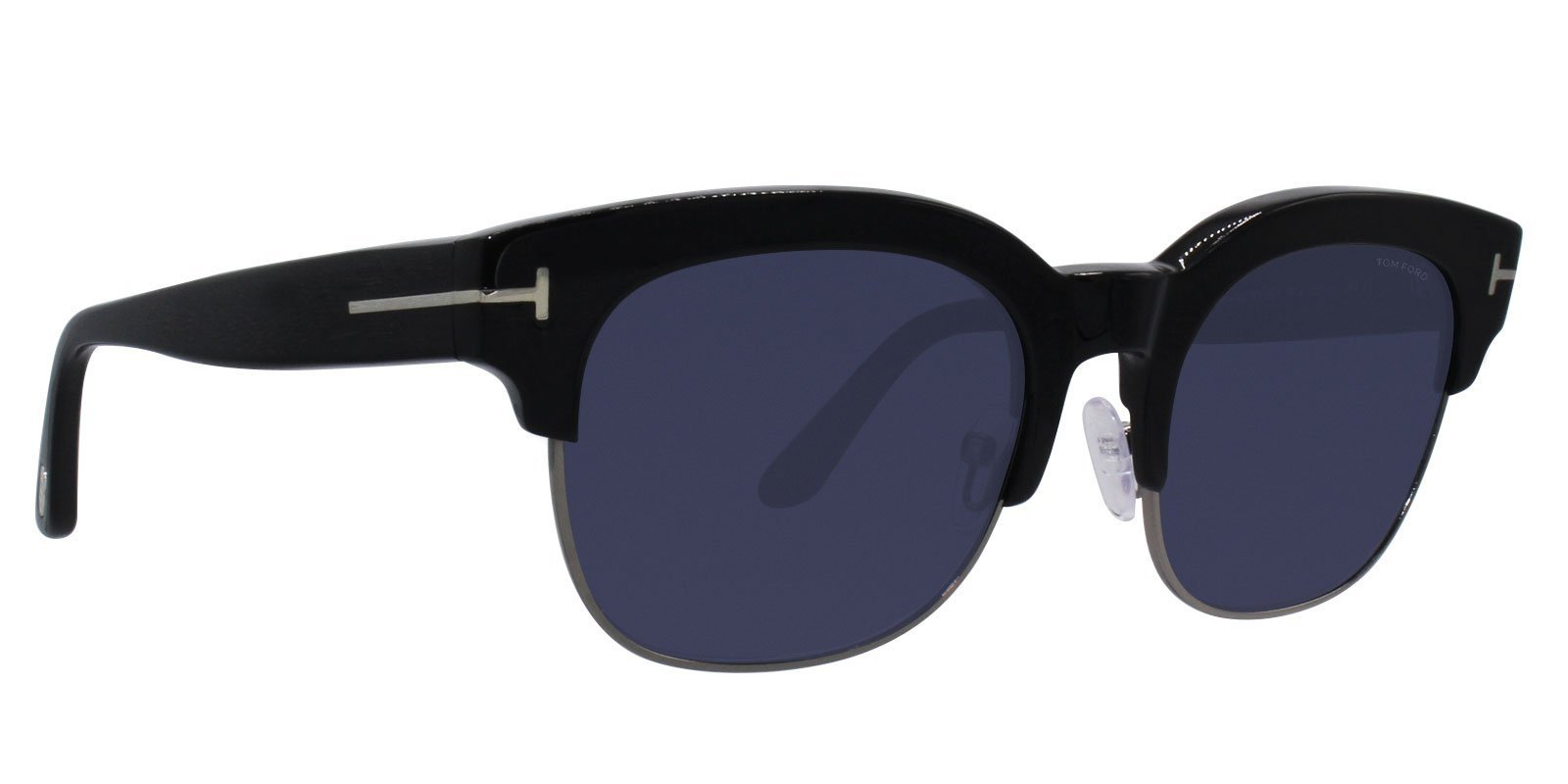 Tom Ford Harry-02 Black / Blue Lens Sunglasses-sunglasses-Designer Eyes