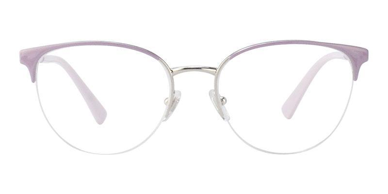 Versace - VE1247 Pink/Clear Semi-Rimless Women Eyeglasses - 52mm-Eyeglasses-Designer Eyes