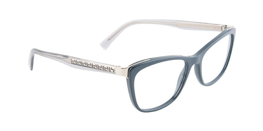 Versace VE3255 Blue / Clear Lens Eyeglasses-Eyeglasses-Designer Eyes