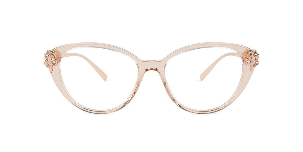 Versace VE3262B Transparent Brown Gold / Clear Lens Eyeglasses-Eyeglasses-Designer Eyes