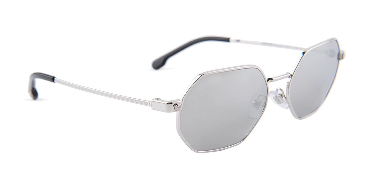 Versace 2194 Silver / Gray Lens Mirror Polarized Sunglasses-sunglasses-Designer Eyes
