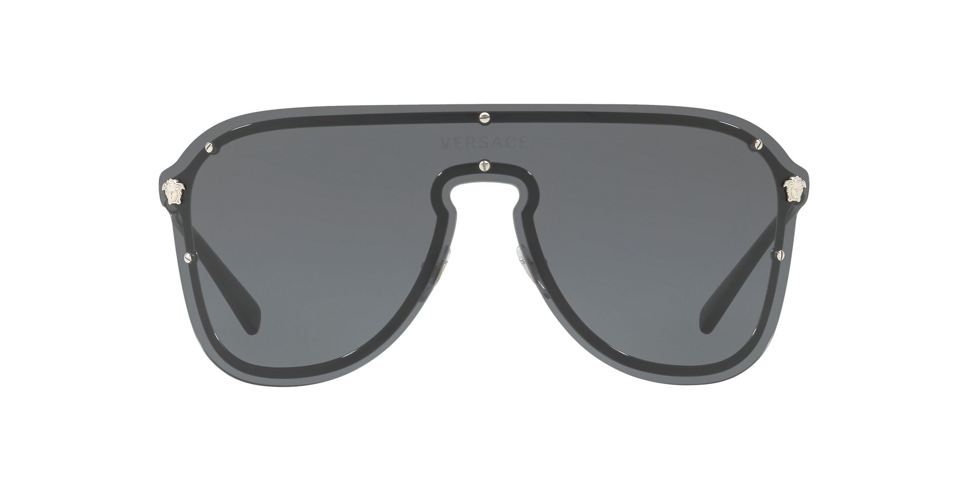 Versace - VE2180 Black/Gray Wrap Unisex Sunglasses - 125mm-Sunglasses-Designer Eyes