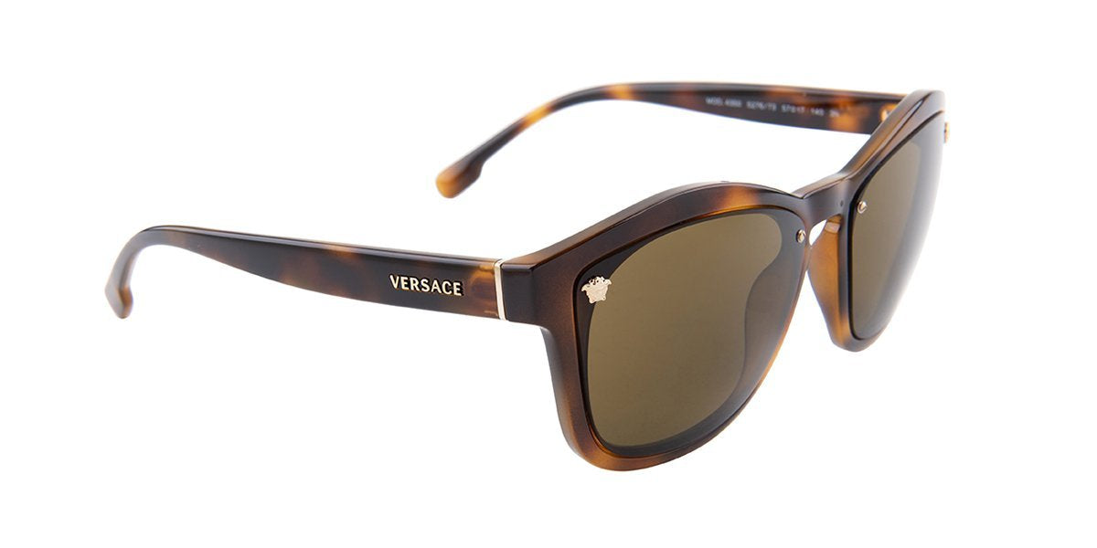Versace - VE4350 Havana/Brown Square Women Sunglasses - 57mm-Sunglasses-Designer Eyes
