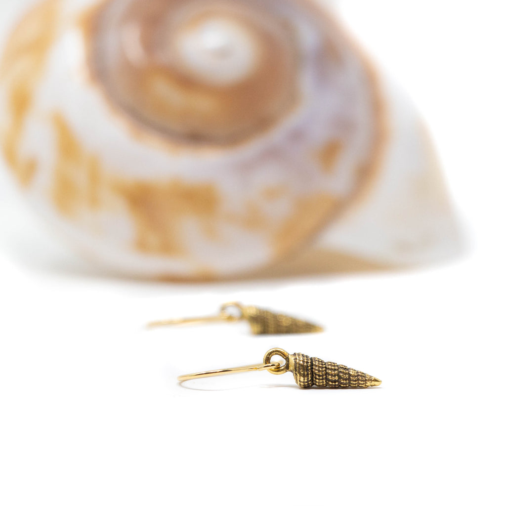 Tiny Seashell Earrings - Drop Earrings - Gift For the Beach Bride - Jacaranda