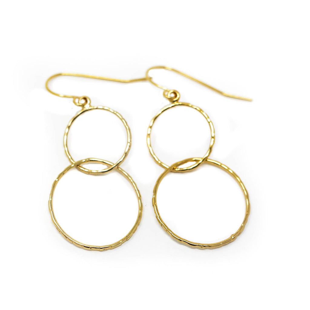 Gold Hoop Dangle Earrings - Jacaranda