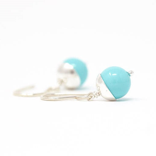 Robins Egg Blue Silver Earrings - Jacaranda