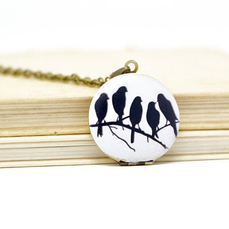 Blackbird Locket Necklace