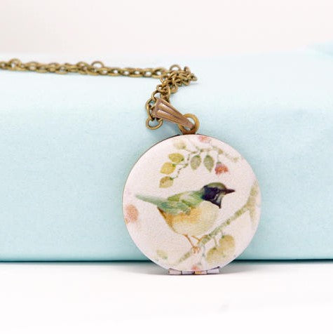 Bird Locket Necklace
