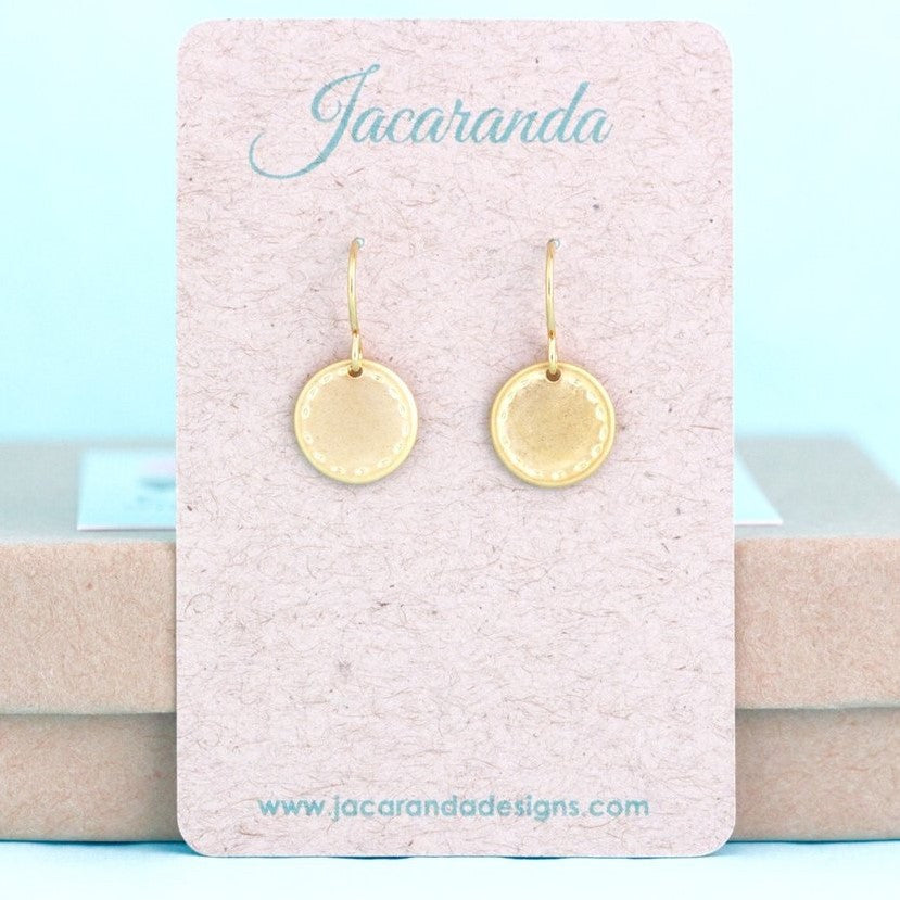 Gold Disc Earrings - Jacaranda