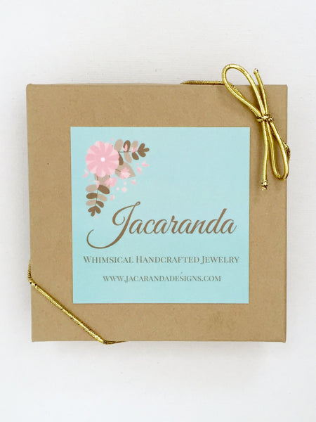 Glass Crystal Gold Bridesmaids Dangle Earrings - Jacaranda