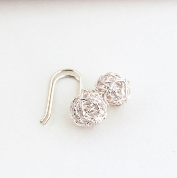 Ball of Yarn Sterling Silver Earrings - Jacaranda