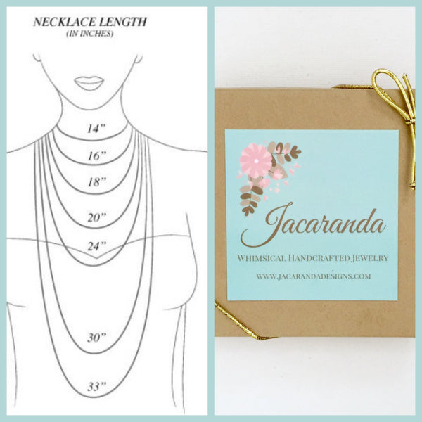 Oval Jewel Necklace - Jacaranda