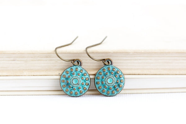 Patina Green Boho Earrings - Jacaranda