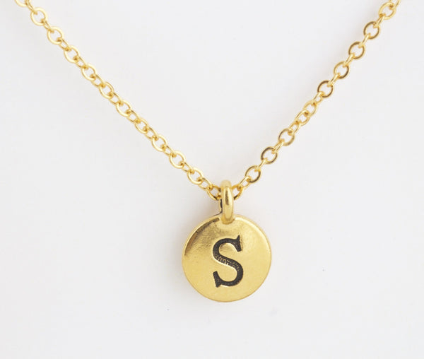 Custom Initial / Monogram Necklace - Jacaranda