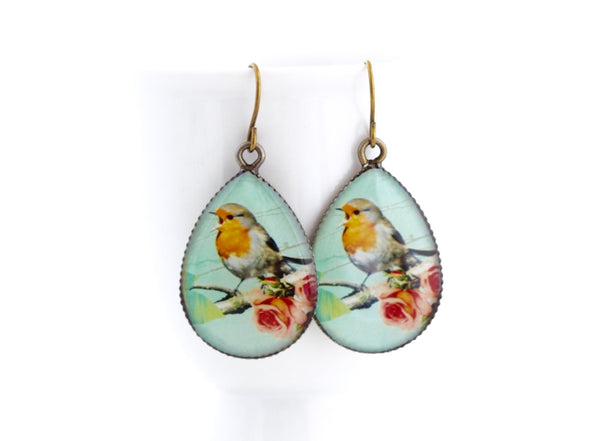 Robin Red Breast Gift Set - Necklace and Earrings