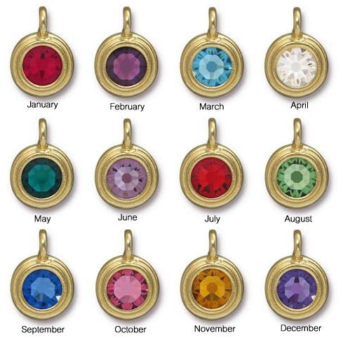 Personalized Zodiac Necklace With Birthstone Charm - Jacaranda