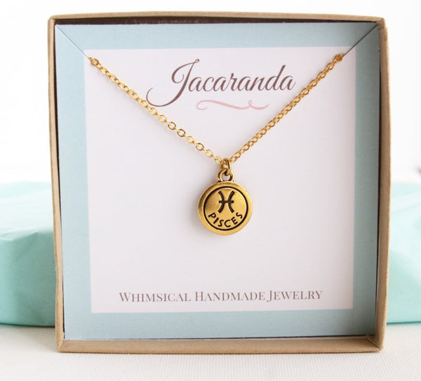 Personalized Zodiac Sign Astrology Necklace
