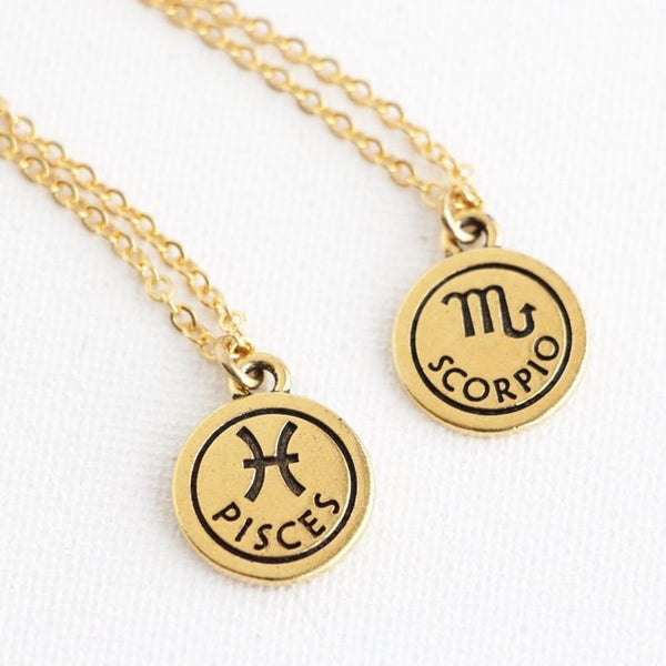 Personalized Zodiac Sign Astrology Necklace - Jacaranda