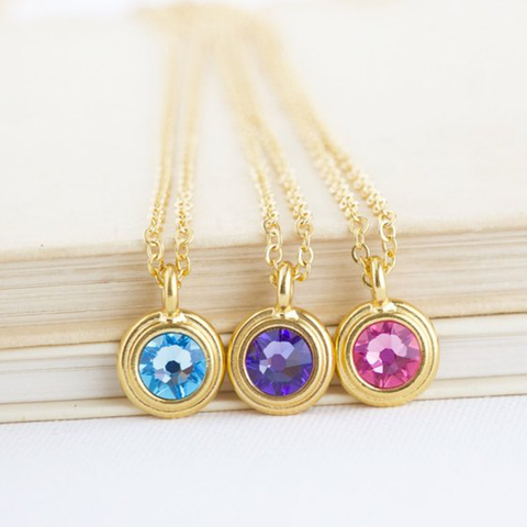 Personalized Birthstone Necklace - Jacaranda