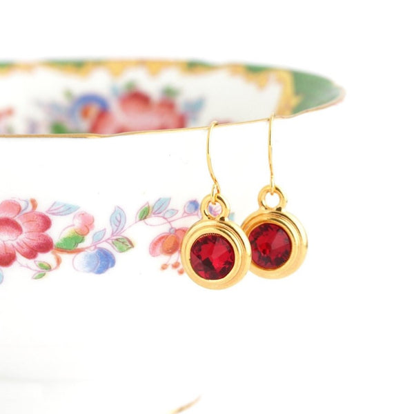 January Birthstone Earrings - Gold or Silver - Jacaranda
