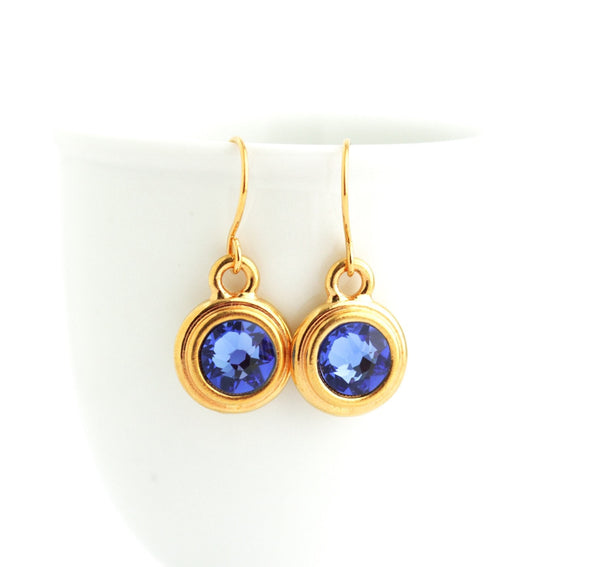 September Birthstone Earrings - Gold or Silver - Jacaranda