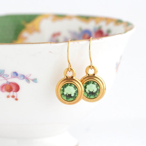 August Birthstone Earrings - Gold or Silver