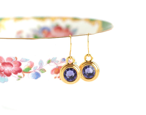 December Birthstone Earrings - Gold or Silver