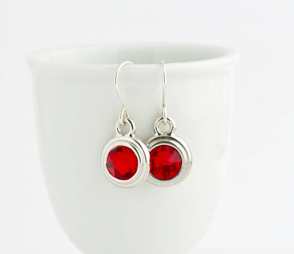 July Birthstone Earrings - Silver or Gold