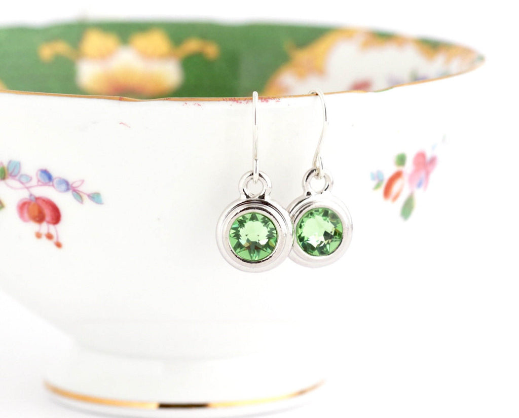 August Birthstone Earrings - Silver or Gold