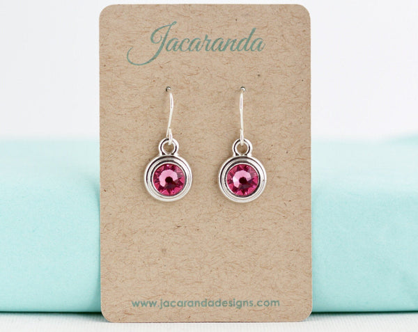 October Birthstone Earrings - Silver or Gold - Jacaranda