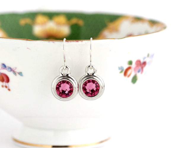 October Birthstone Earrings - Silver or Gold