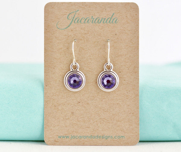 December Birthstone Earrings - Silver or Gold