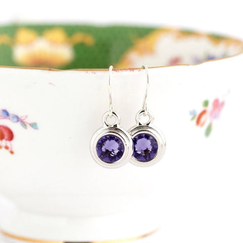 December Birthstone Earrings - Silver or Gold - Jacaranda