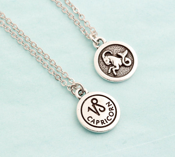 Silver Capricorn Necklace - Jacaranda