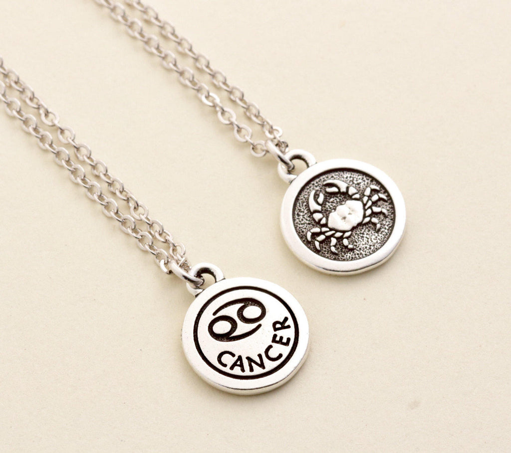 Silver Cancer Necklace