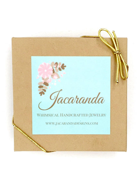 Birthstone and Initial Necklace and Earrings Set in Silver - Jacaranda