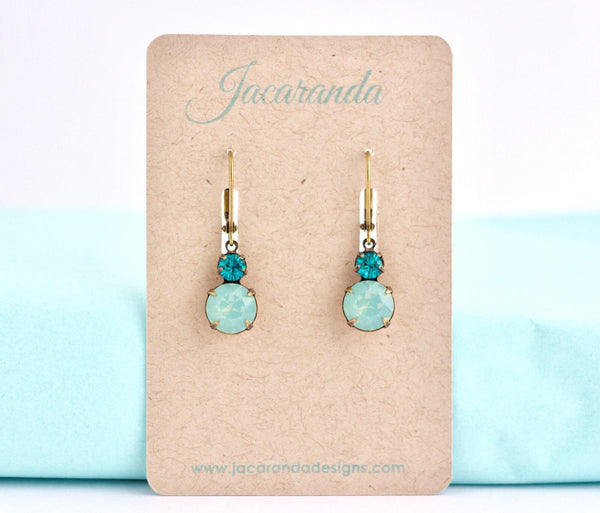 Pacific Green Vintage Jewel Earrings - Jacaranda