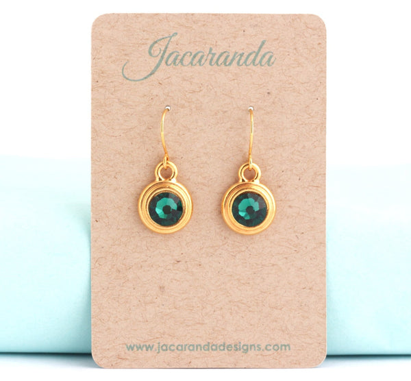May Birthstone Earrings - Gold or Silver - Jacaranda