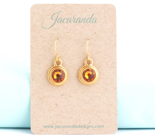 November Birthstone Earrings - Gold or Silver