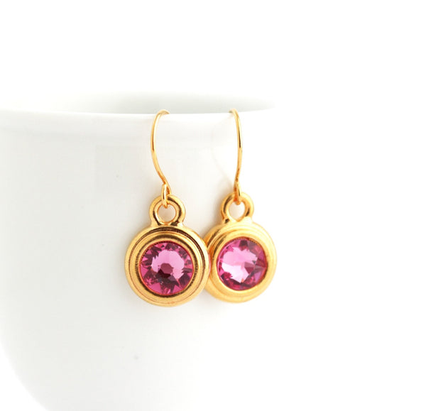 October Birthstone Earrings - Gold or Silver - Jacaranda