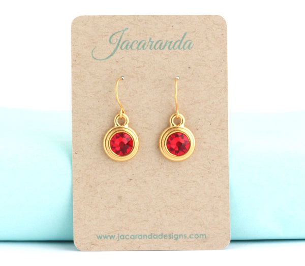 July Birthstone Earrings - Gold or Silver