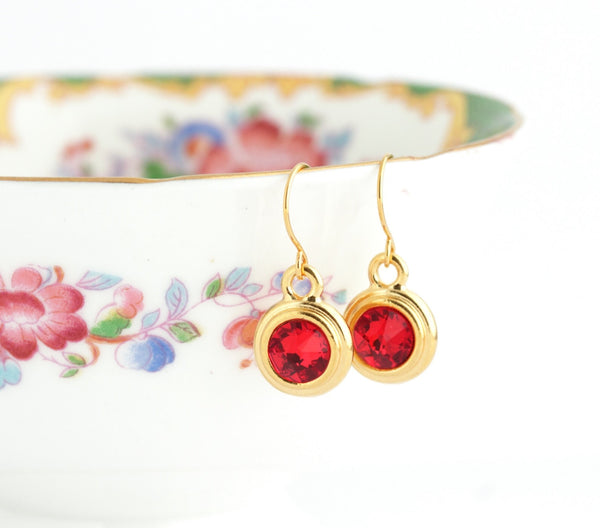 July Birthstone Earrings - Gold or Silver - Jacaranda