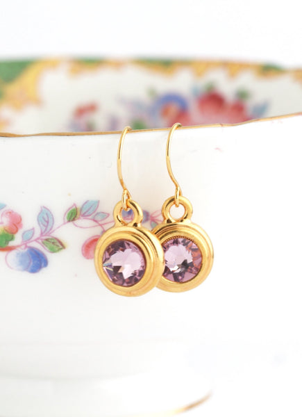 June Birthstone Earrings - Gold or Silver