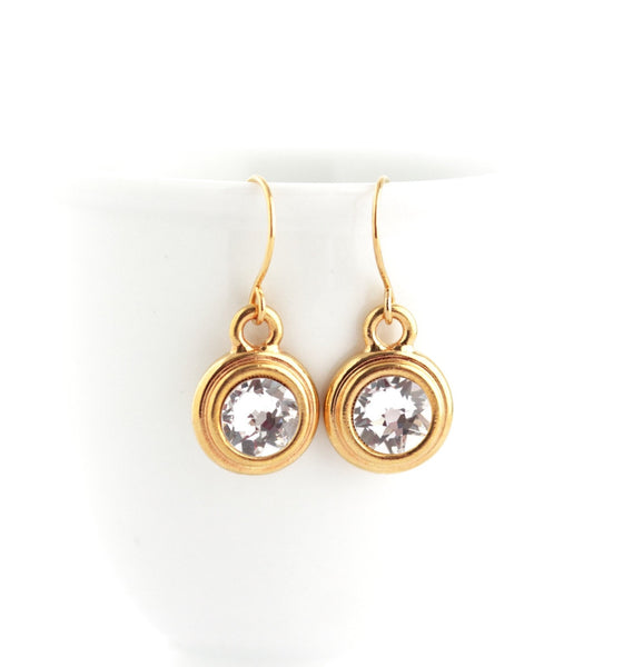 April Birthstone Earrings - Gold or Silver - Jacaranda