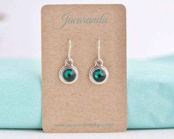 May Birthstone Earrings - Silver or Gold - Jacaranda