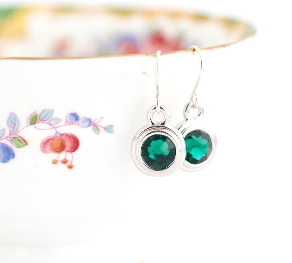 May Birthstone Earrings - Silver or Gold