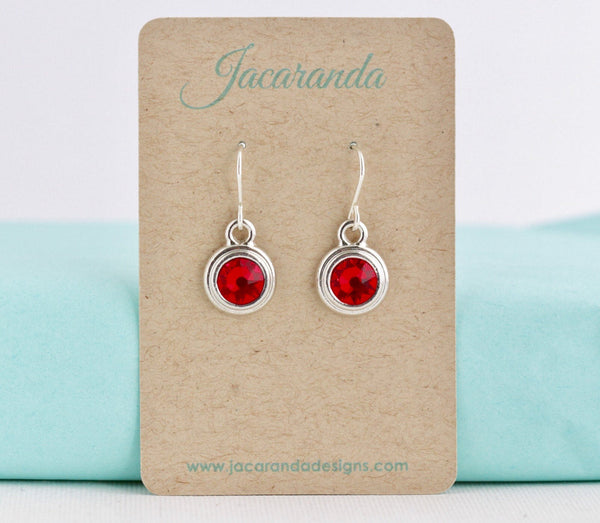 July Birthstone Earrings - Silver or Gold - Jacaranda